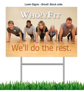 Athletic Small Lawn Sign Back