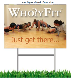 Athletic Small Lawn Sign Front